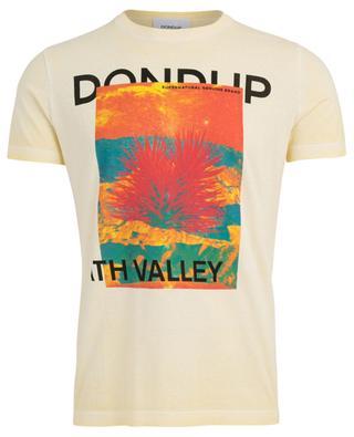 T-Shirt aus Baumwolle mit Print DONDUP