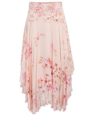 Asymmetric cherry blossom print skirt TWINSET