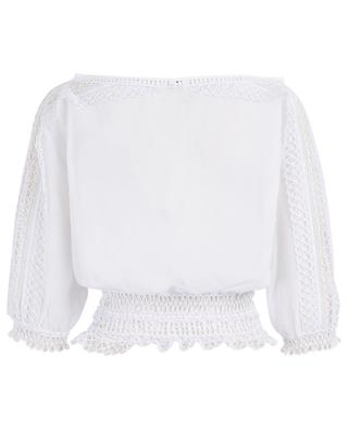 Zana cotton and guipure top CHARO RIUZ IBIZA
