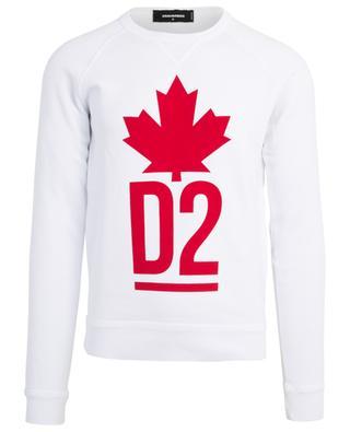 Sweatshirt mit Logo- und Ahornblattprint DSQUARED2