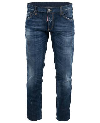 Rose patch used look slim fit jeans DSQUARED2