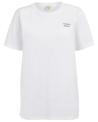 T-shirt en coton brodé Stoned Again YEAH RIGHT NYC
