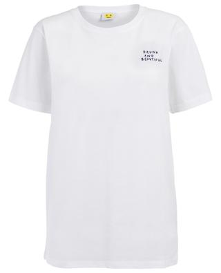 T-shirt en coton Drunk and Beautiful YEAH RIGHT NYC