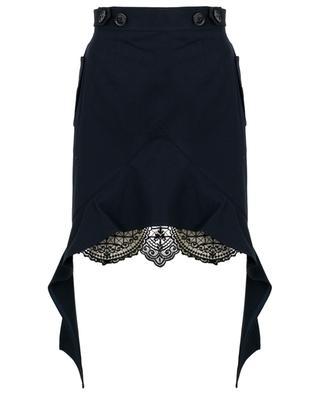 Short canvas and lace skirt SELF PORTRAIT