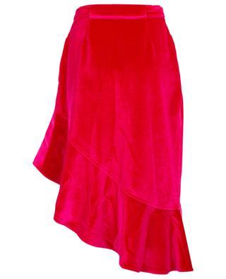 Asymmetric velvet skirt SELF PORTRAIT