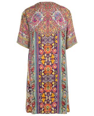 Printed textured viscose and silk dress ETRO