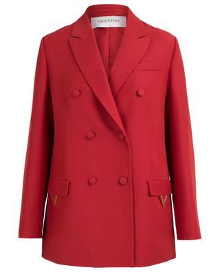Golden V-detail boyish blazer VALENTINO