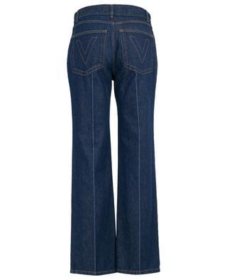 Gerade Jeans mit goldenen V-Details VALENTINO