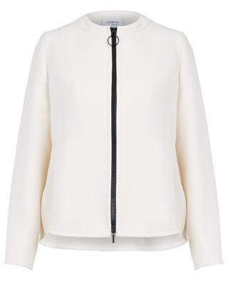Peplum adorned tricotine jacket AKRIS PUNTO
