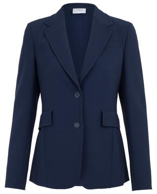Trench coat detail slim fit blazer AKRIS PUNTO