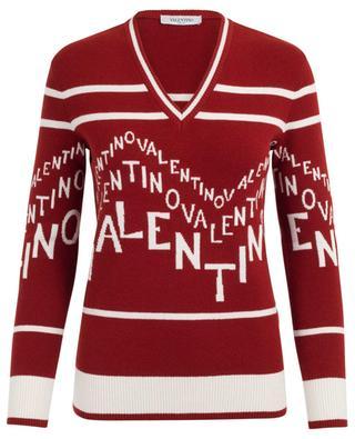 Virgin wool and cashmere V-neck jumper VALENTINO
