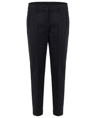 Pantalon ajusté en coton mélangé Fabia AKRIS PUNTO
