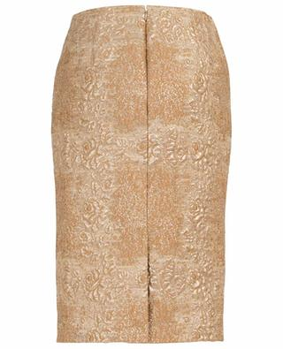 Tartan Flower golden pencil skirt VALENTINO