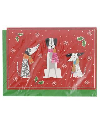 Weihnachtskarte Christmas Canines CASPARI