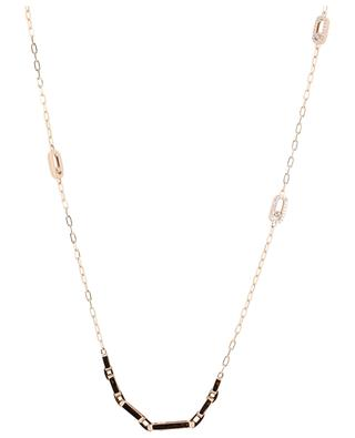 Move Uno long pink gold necklace MESSIKA
