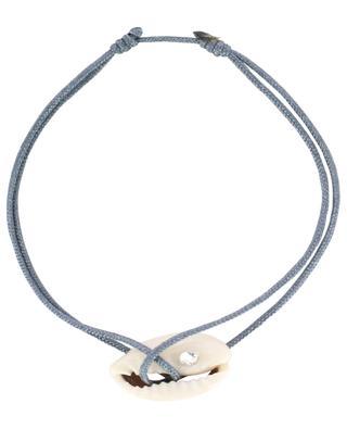 Bracelet sur corde Cauri Cristal COQUILLAGE CRUSTACE