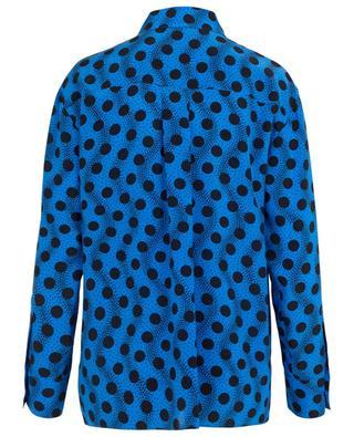 Seidenhemd mit Print und Schluppe Wave Polka KENZO