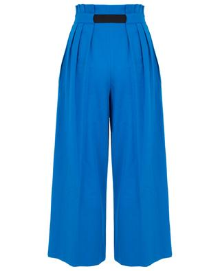 Wide-leg cotton trousers with belt KENZO