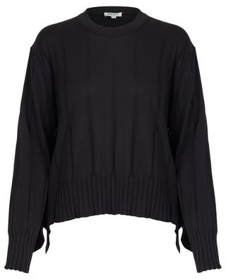 Oversize-Pullover mit Rüschen aus Baumwolle und Seide KENZO