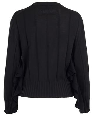 Oversized ruffled cotton and silk blend jumper KENZO