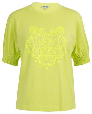 Neon Tiger puff sleeve cotton T-shirt KENZO
