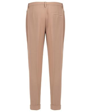 Tapered leg viscose blend trousers N°21