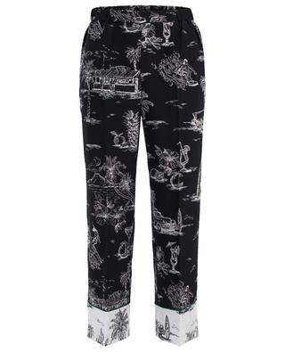 Printed silk trousers N°21