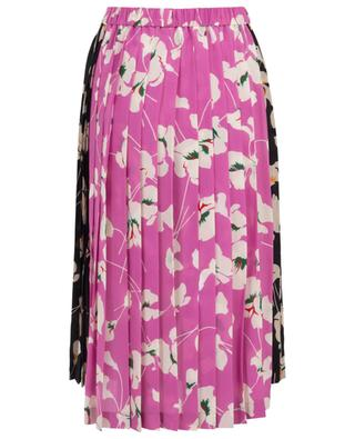 Floral pleated skirt with contrasting detail N°21