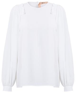 Silk blend blouse with ruffles N°21