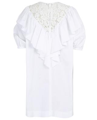 Ruffle and lace embellished dress N°21