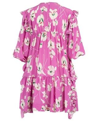 Ruffle and floral adorned A-line dress N°21