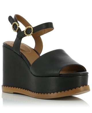 Leather wedge sandals SEE BY CHLOE