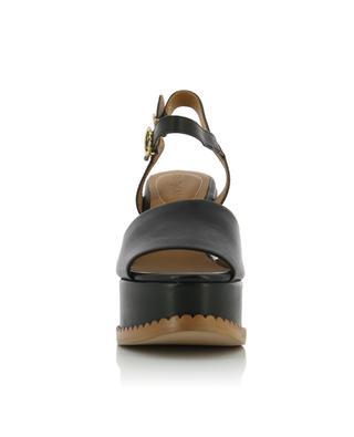 Sandales compensées en cuir SEE BY CHLOE