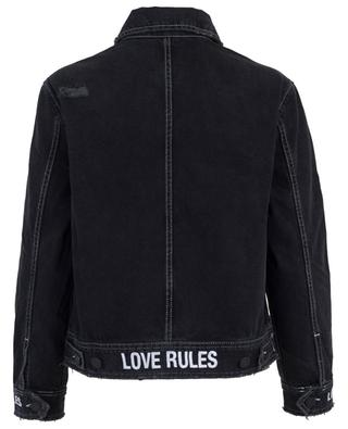 Blouson en jean à message Love Rules ZOE KARSSEN
