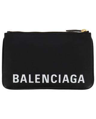 Vill M grained leather pouch with logo BALENCIAGA