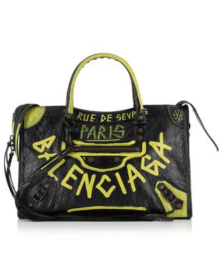Classic City S graffiti detail leather bag BALENCIAGA