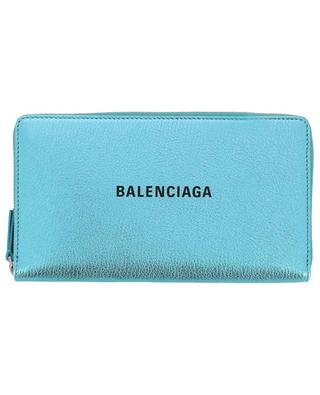 Brieftasche aus Metallic-Leder Everyday Continental BALENCIAGA
