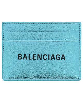 Porte-cartes en cuir métallisé Everyday BALENCIAGA