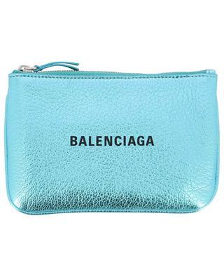 Everyday XL logo metallic leather pouch BALENCIAGA