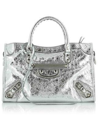 Handtasche aus silbernem Leder Metallic City S BALENCIAGA