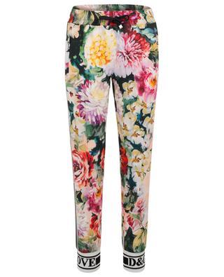 Pantalon esprit jogging à slogan Flowers Mix DOLCE & GABBANA