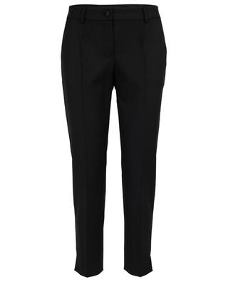 Wool stretch cropped trousers DOLCE & GABBANA