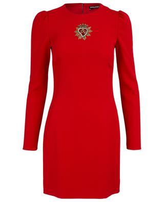 DG heart embroidered short dress DOLCE & GABBANA