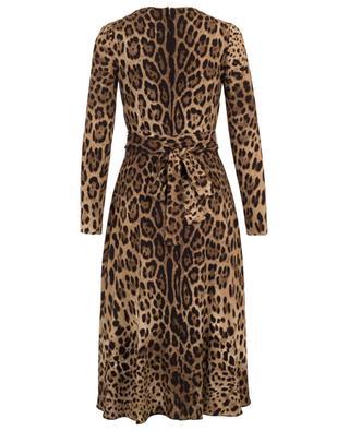 Leopard print wrap effect dress DOLCE & GABBANA