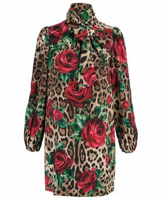 Floral and leopard print dress DOLCE & GABBANA