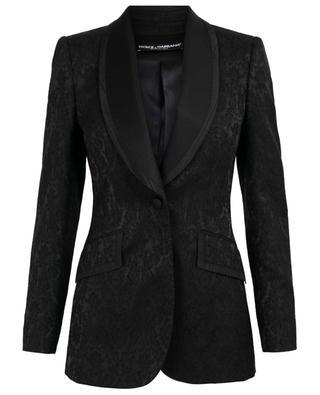 Brocade blazer with shawl collar DOLCE & GABBANA