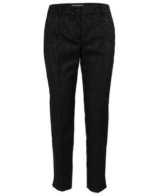 Cropped brocade trousers DOLCE & GABBANA