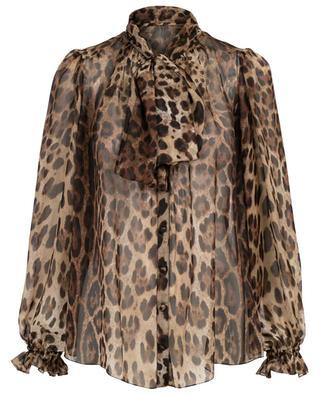 Leopard print chiffon shirt DOLCE & GABBANA