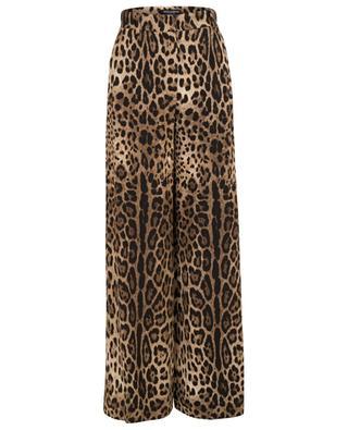 Leopard print wide-leg trousers DOLCE & GABBANA