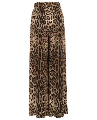 Pantalon large imprimé léopard DOLCE & GABBANA